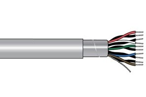 Alpha Wire 2244C - 18 AWG - PVC - Polyvinyl Chloride Outer Jacket - 1 FT - 300 V RMS (UL AWM Style 2464) - SLATE