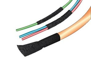 Alpha Wire FIT®-FABRIC Woven Fabric Heat Shrink Tubing 2:1