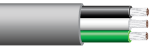 UL 1426 (BC-5W2), Triplex Boat Cable, 16 AWG, Orange - IWC Approved - ORANGE
